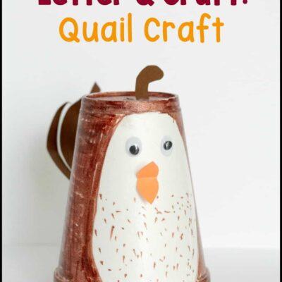 Letter Q Craft: Quail