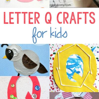 Letter Q Crafts for Kindergarten