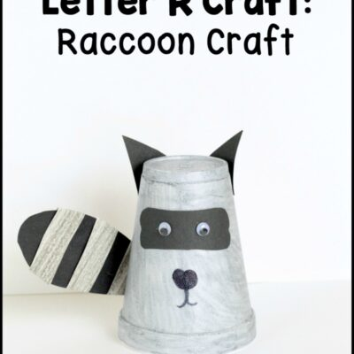 Letter R Craft: Raccoon