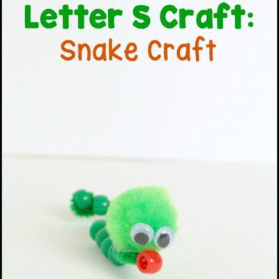 Letter S Craft: Snake