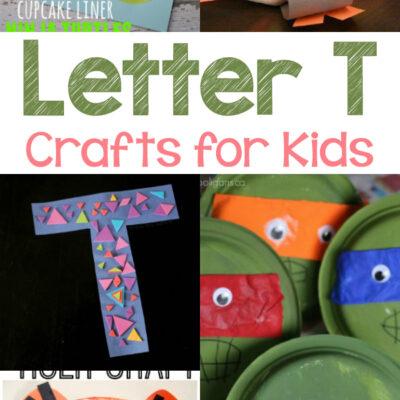 Letter T Crafts for Kindergarten