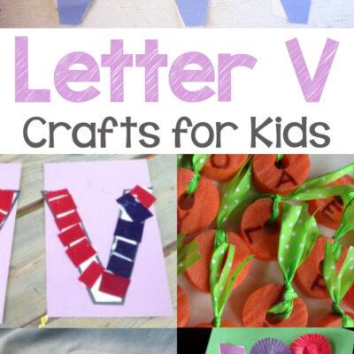 Letter V Crafts for Kindergarten