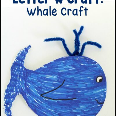 Letter W Craft: Whale