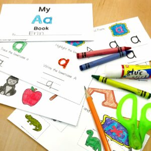 Letter A Lesson Plan for Kindregarten -mini-book activity