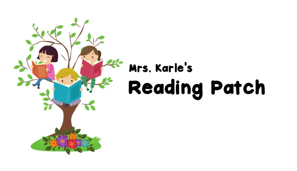 Mrs. Karle's Reading Patch Horizontal Logo