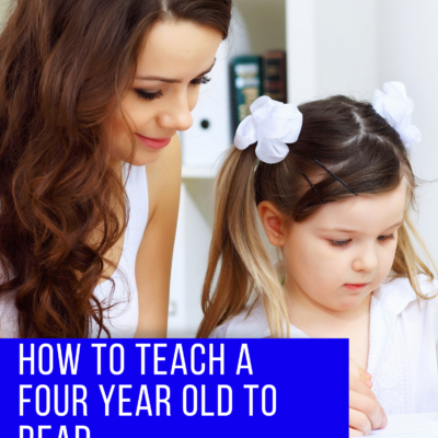 How to Teach 4-year Olds to Read