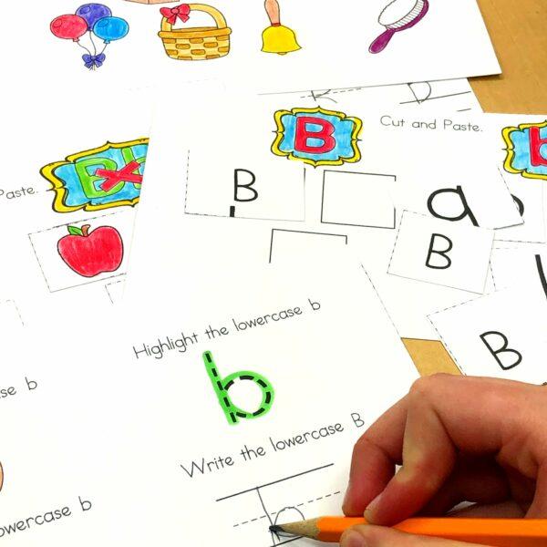 Letter B beginning sound worksheets