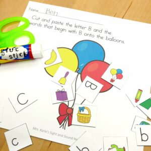 Letter B lesson ideas