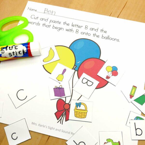 Letter B lesson ideas